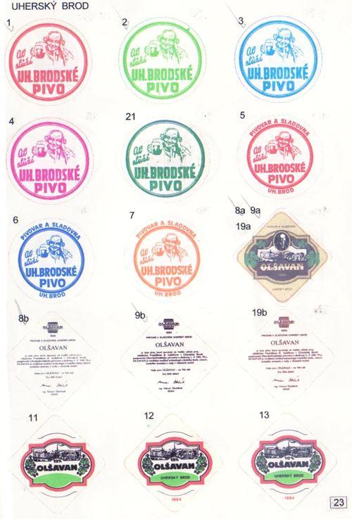 Ukázka z katalogu pivních táckù